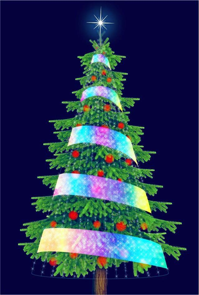 An impression of what Gympie's new Christmas tree could possibly look like once decorated. Total cost of the tree is budgeted for about $65,000.
