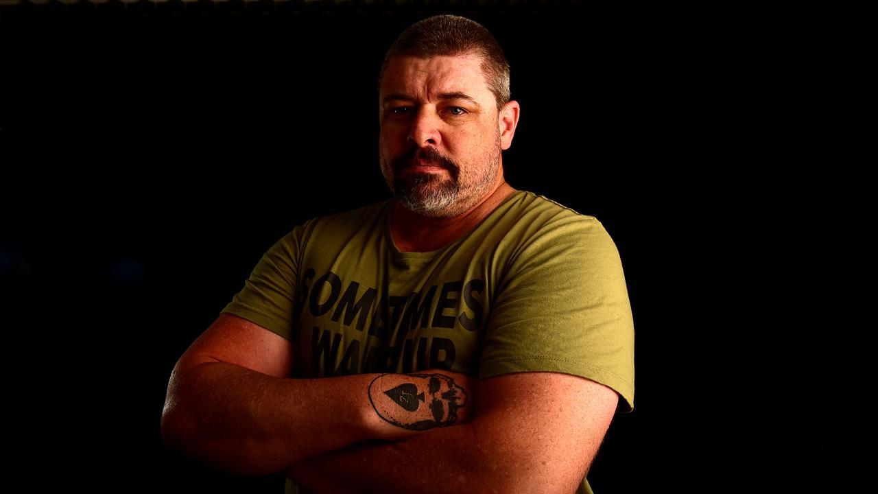 Veteran Luke Adamson regularly checks in with homeless veterans.