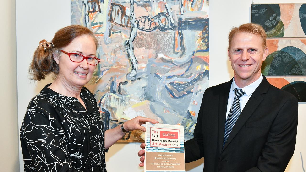 Ainslie McMahon was the overall winner at The 43rd Rio Tinto Martin Hanson Memorial Art Awards in 2018.