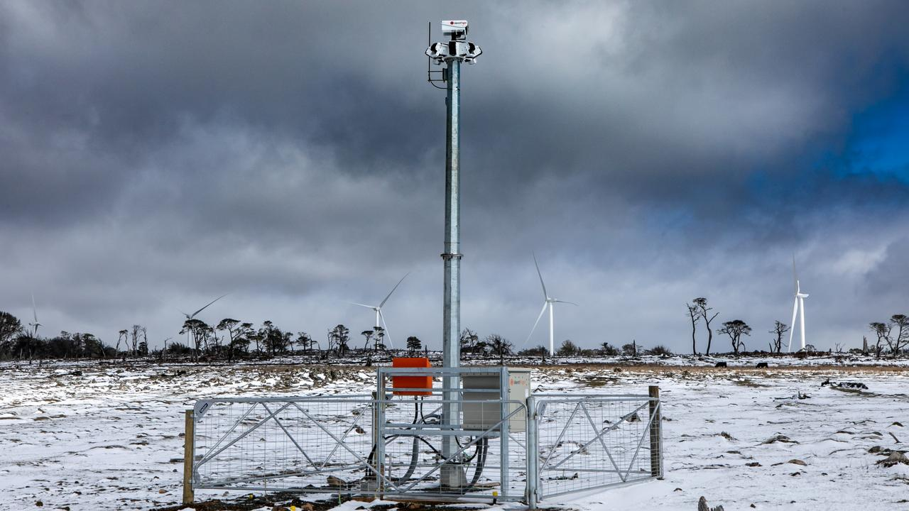 Goldwind Australia and IdentiFlight technology has been installed at Cattle Hill Wind Farm. Picture: GOLDWIND AUSTRALIA