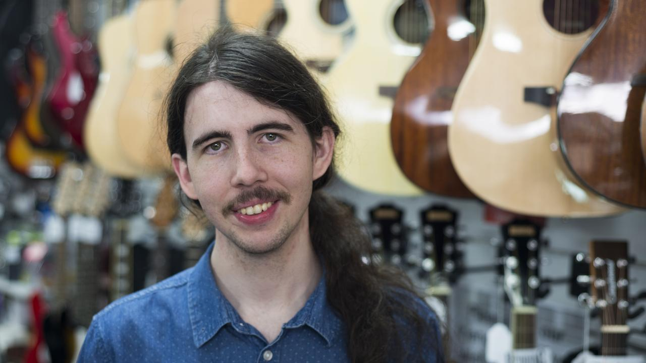 Guitarist of the Year Dylan Reavey at Binary Music in Cleveland.