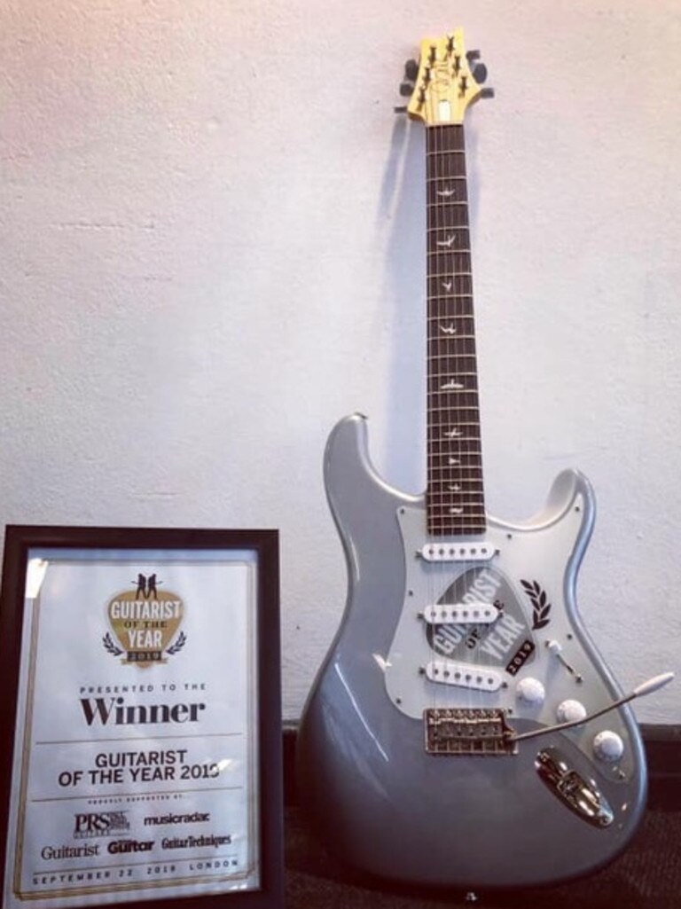 Dylan's 2019 Guitarist of the Year prize.