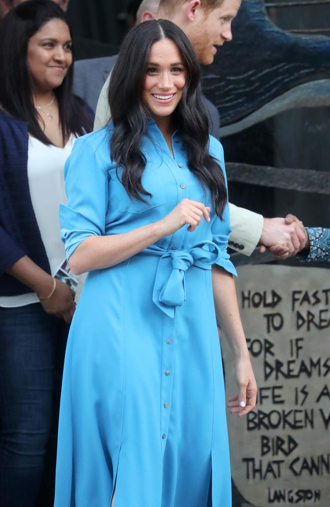 Meghan, Duchess of Sussex, visits the District 6 Museum and Homecoming Centre in Cape Town, South Africa. Picture: Getty Images