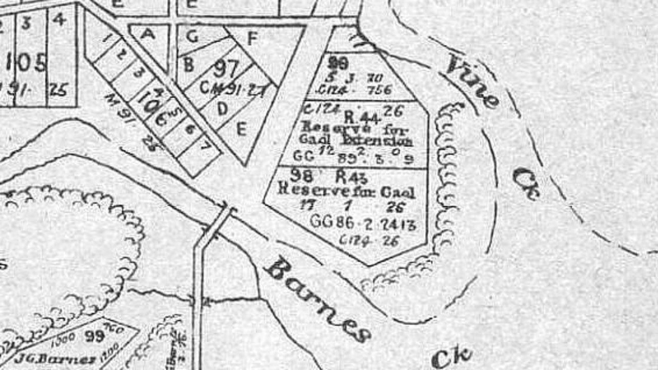 A map of the former Mackay Jail.