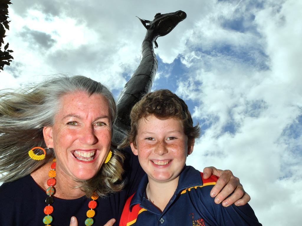 HOLY GIRAFFE: Pru and Matt McMillan of Community Projects Worldwide. Photo: John McCutcheon / Sunshine Coast Daily
