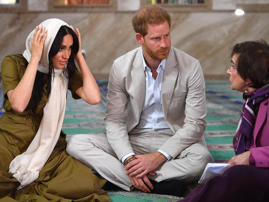 Meghan, Duchess of Sussex visits Auwal Mosque on Heritage Day with Prince Harry. Picture: by Tim Rooke/Getty Images