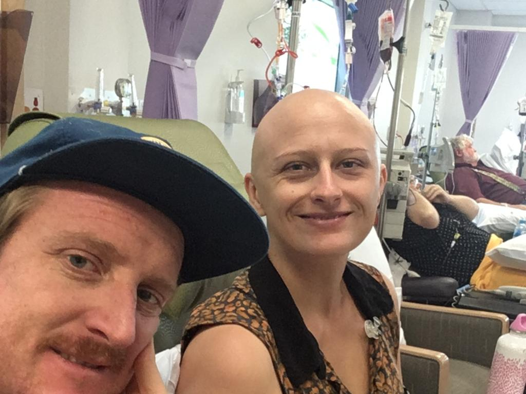 Maroochydore couple Tegen and Alex White in happier times, months before Tegen's tragic terminal cancer diagnosis.