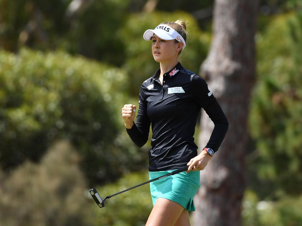 Nelly Korda is expected to defend her Australian OPen title. Picture: AAP Image/David Mariuz