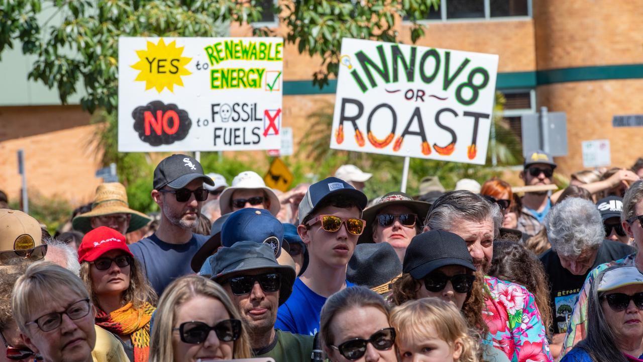 Protesters marched through the Coffs CBD as part of the global climate strike.