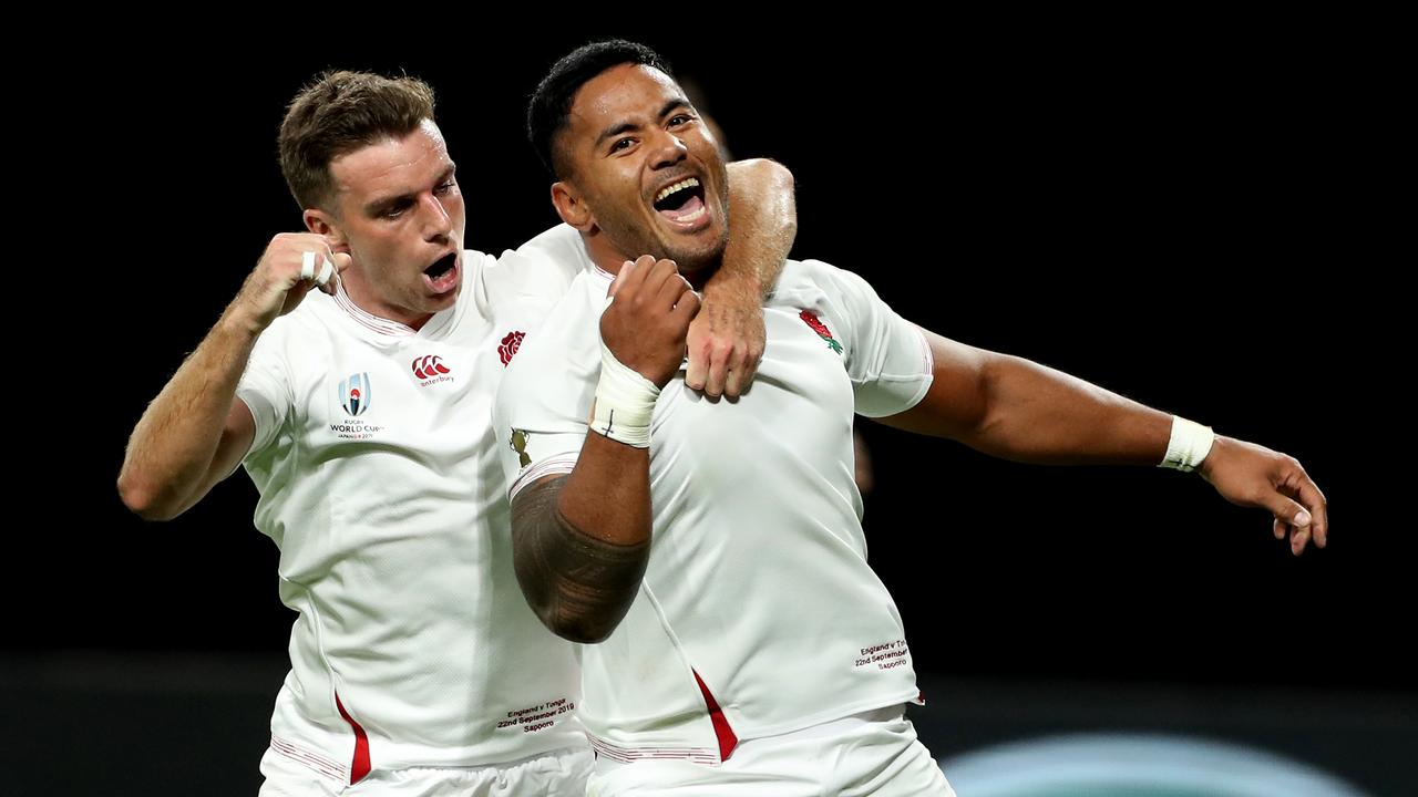 Manu Tuilagi (R) scored two tries against Tonga - but has been rested for the USA clash. Picture: Getty