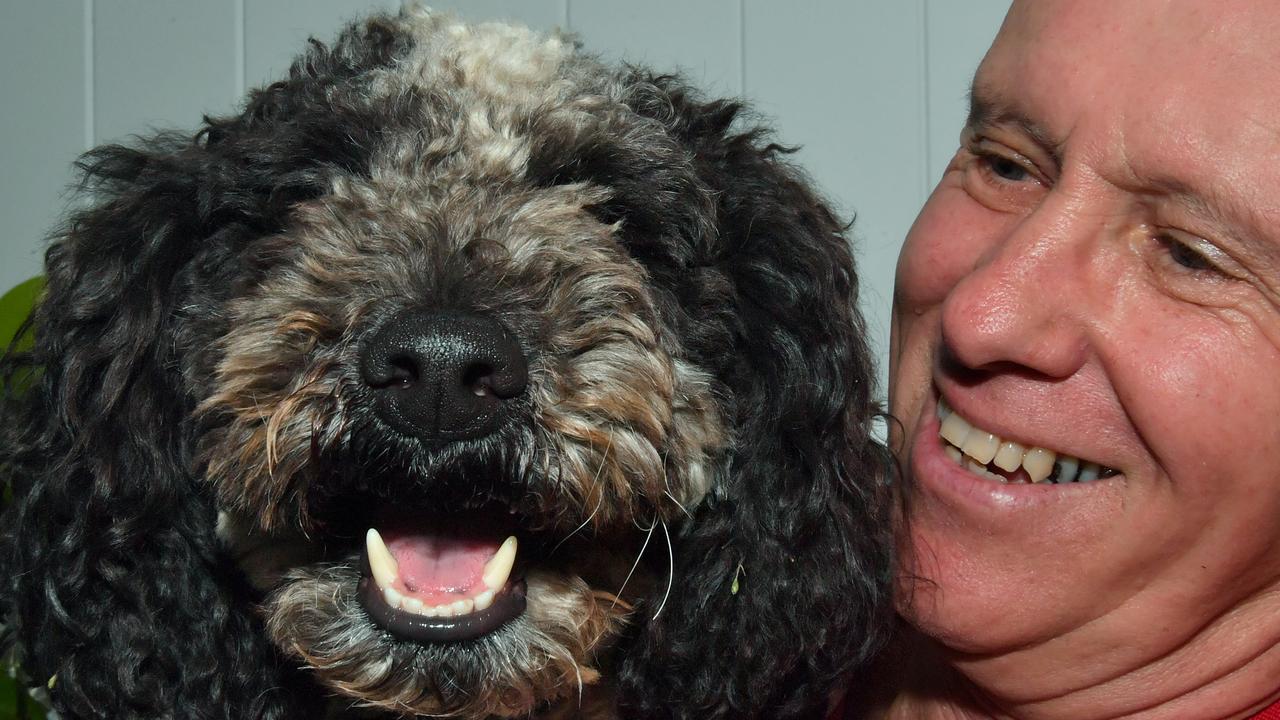 Phil Brocklehurst of Compass Assistance Dogs with 'Major'. Photo: John McCutcheon