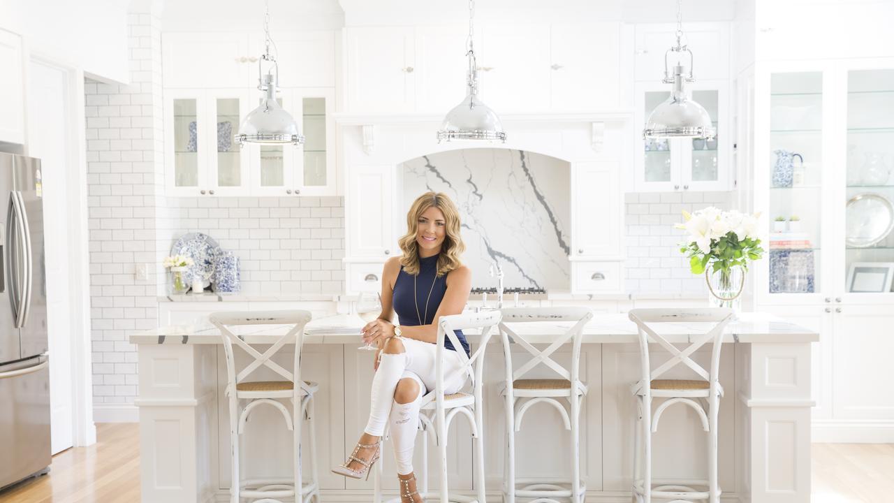 Danni Morrison in her Hamptons-inspired kitchen.
