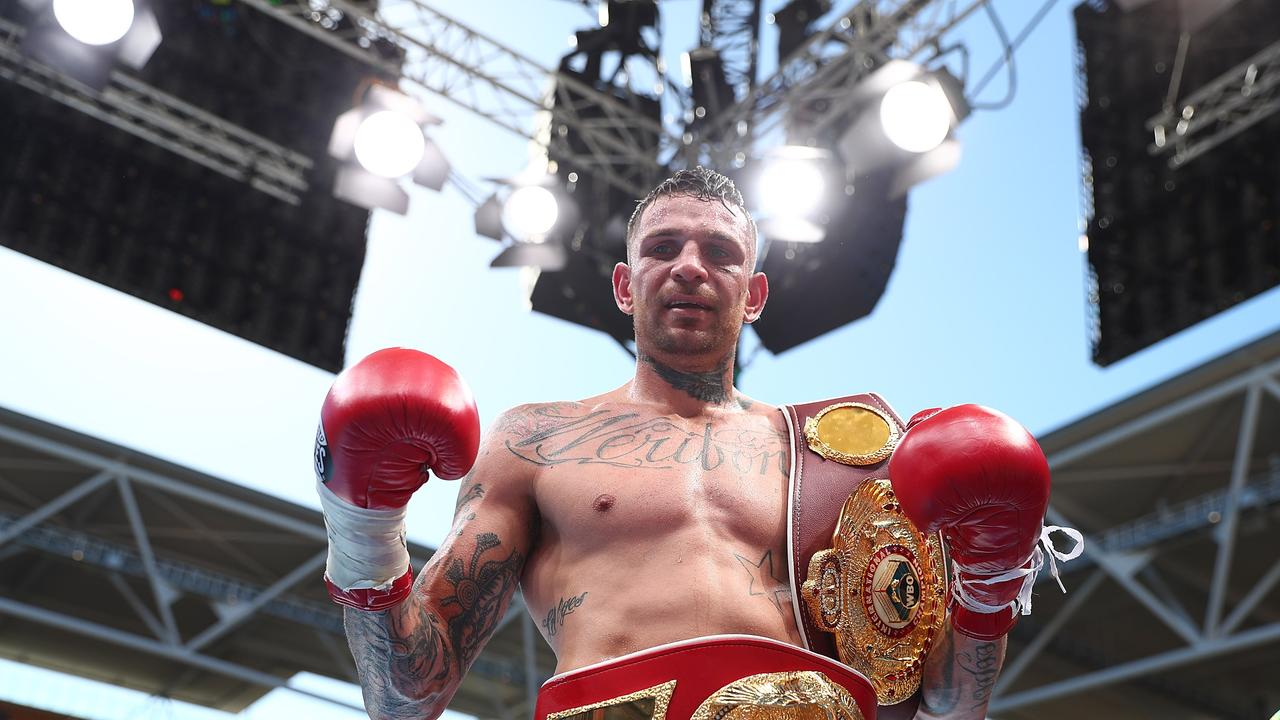 Damien Hooper fought on the Horn-Pacquiao undercard at Suncorp Stadium in 2017. Picture: Chris Hyde/Getty Images