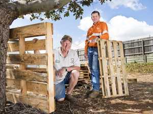 Aurizon donates wooden pallets to Men's Shed