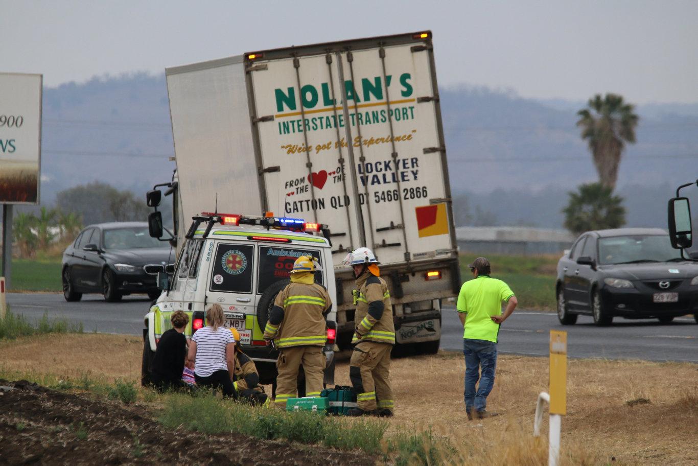 Car crash on Eastern Drive, Gatton, September 26, 2019