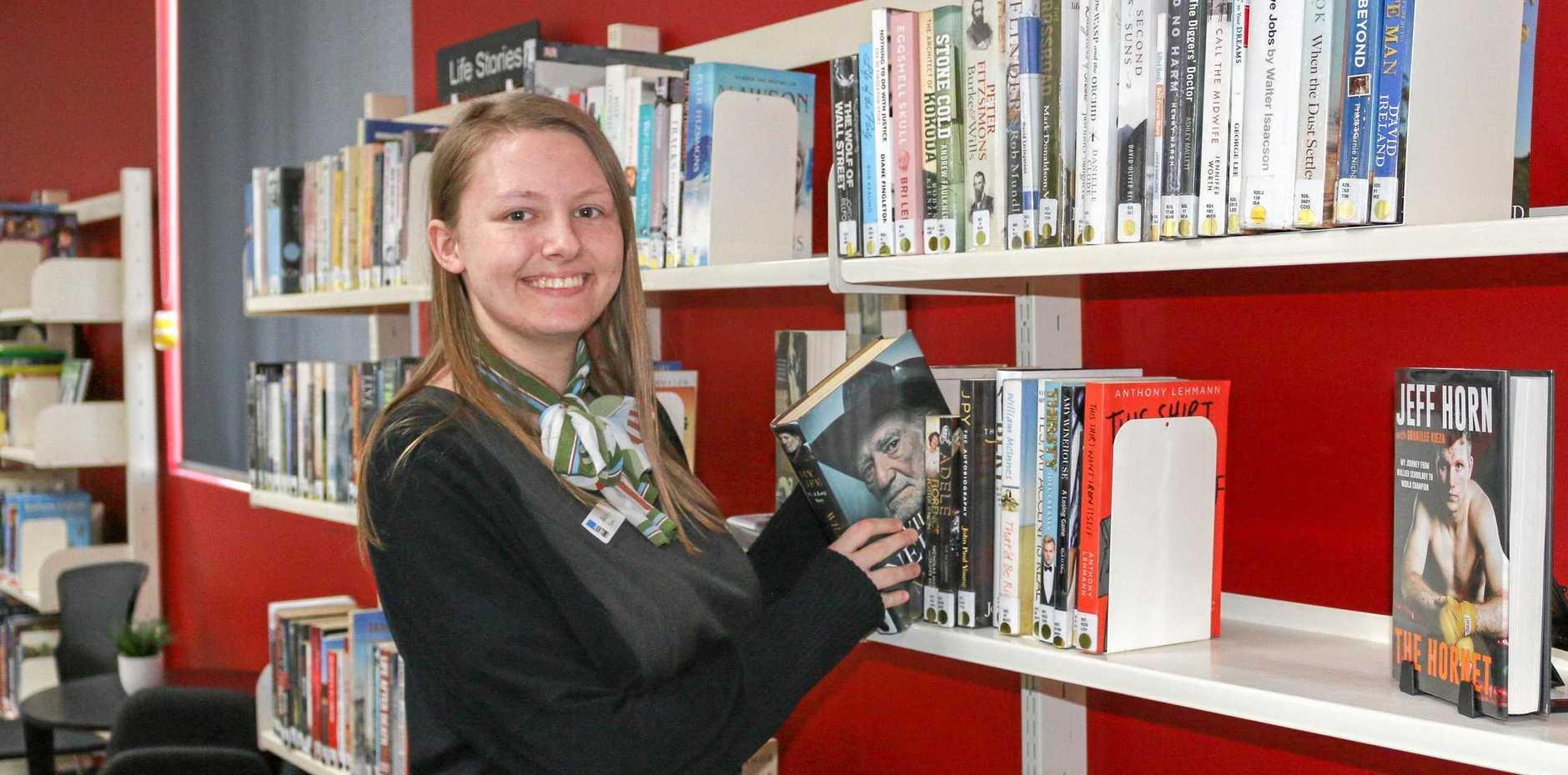 ON THE JOB: Library services trainee Alicia Streten.