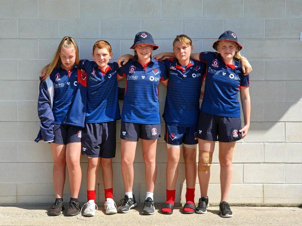 Elexis Towers, Matthew Wynd, Breanna Burrowes, Blake Jacobson and Darcie Seng.