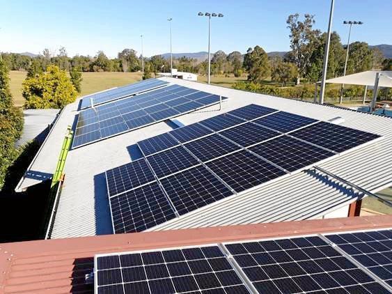 New solar panels at Kilcoy pool