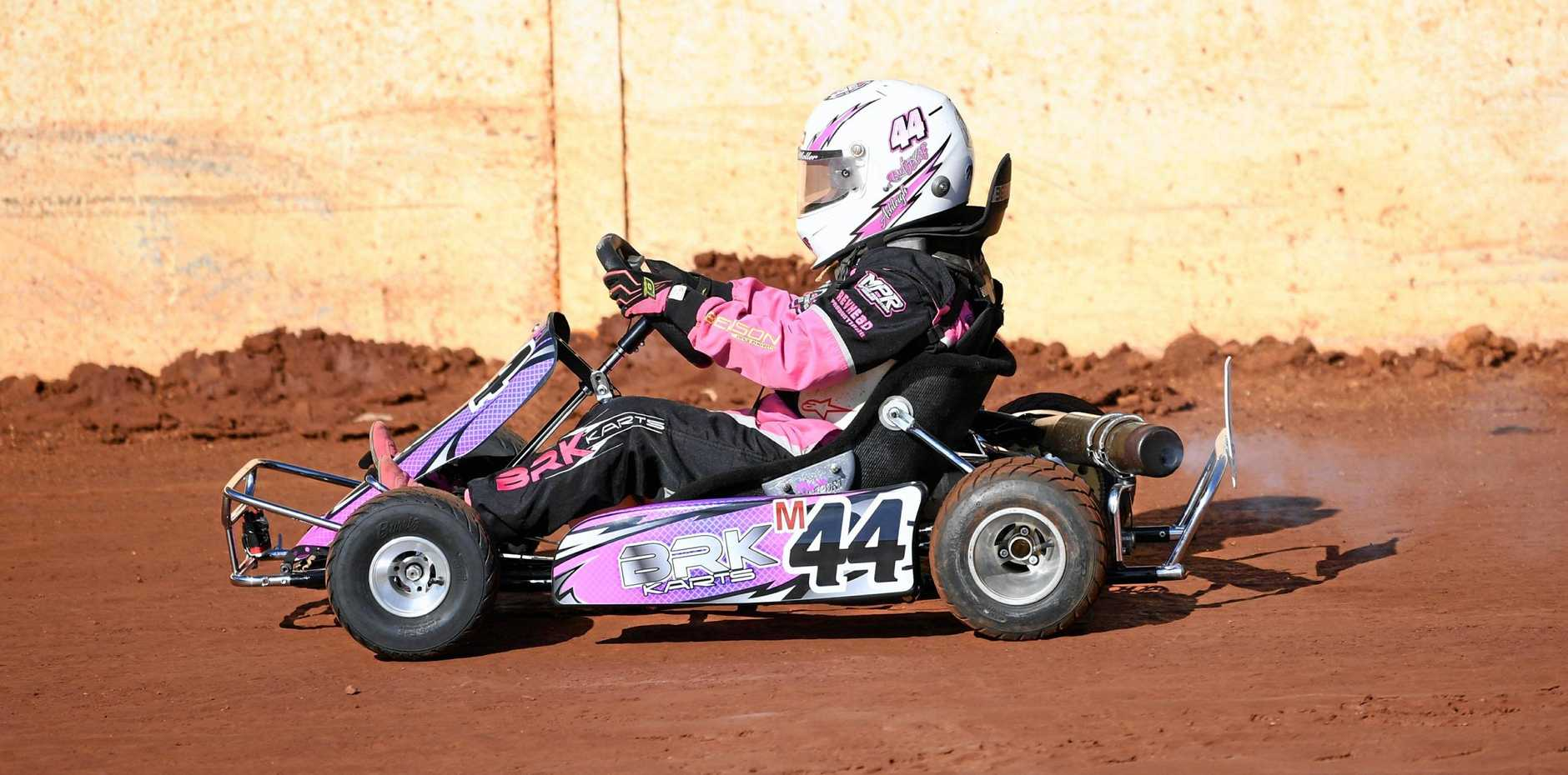 Maryborough Speedway Karts - Ashleigh Moller finished in first place.