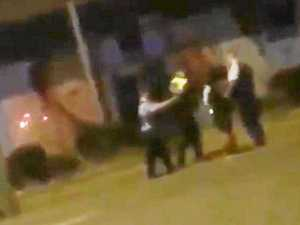 Investigation launched after cop filmed slapping man
