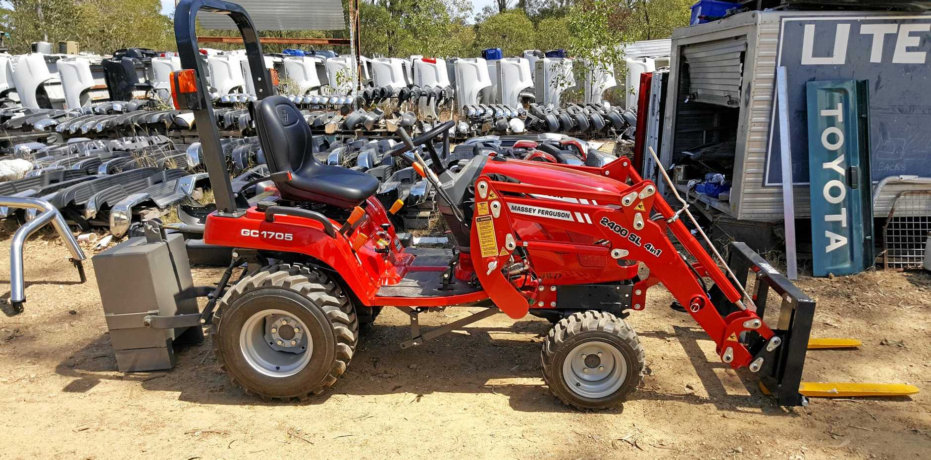 Police are seeking assistance to identify a person that stole a tractor from a property on Greenwood Village Rd in Redbank Plains.