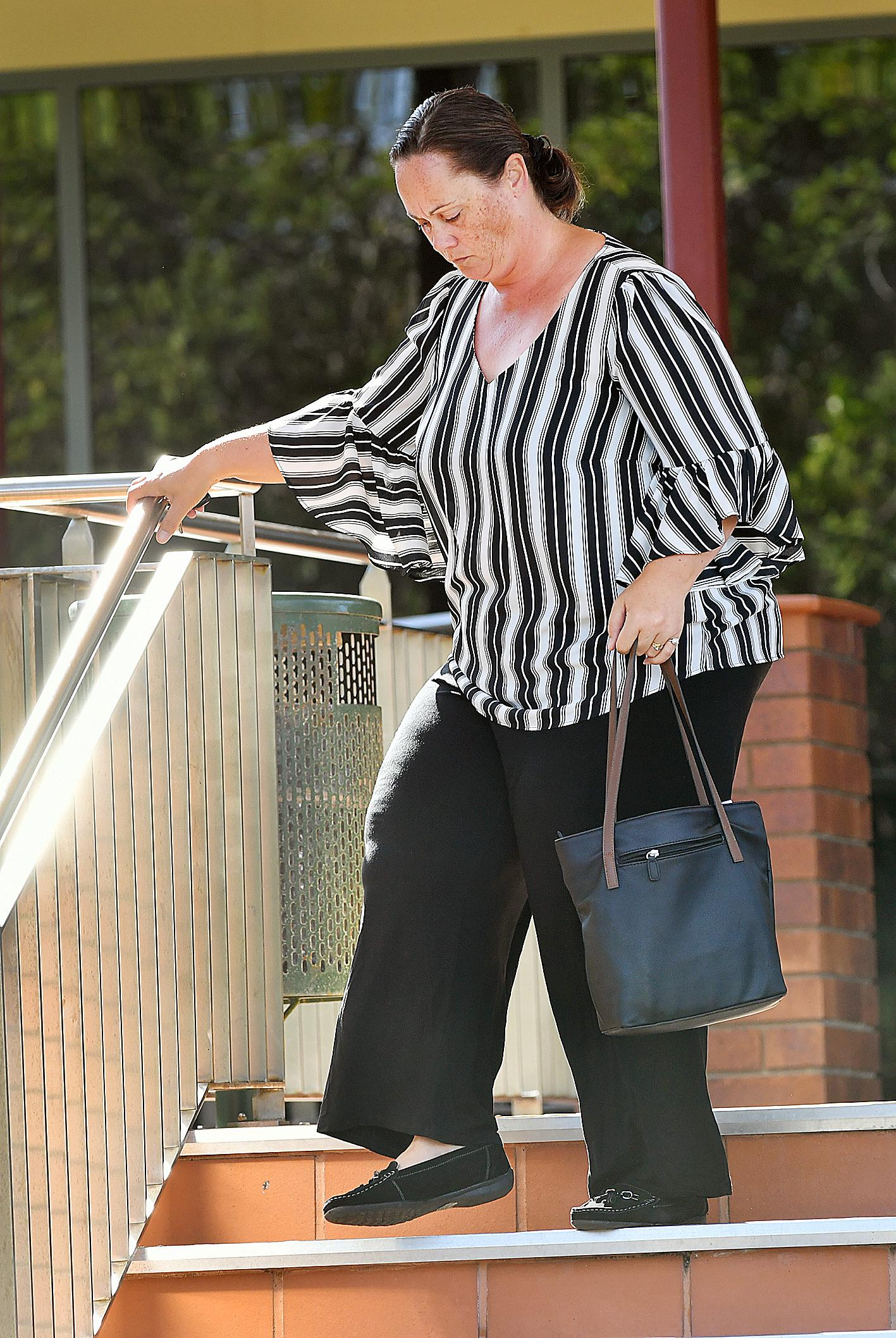 Shona Lee Divljak leaves Hervey Bay courthouse.