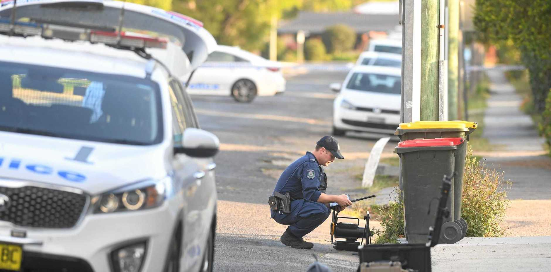 Bomb threat in Mullumbimby near the council chambers where emergency services closed off streets and called in Sydney bomb disposaL.