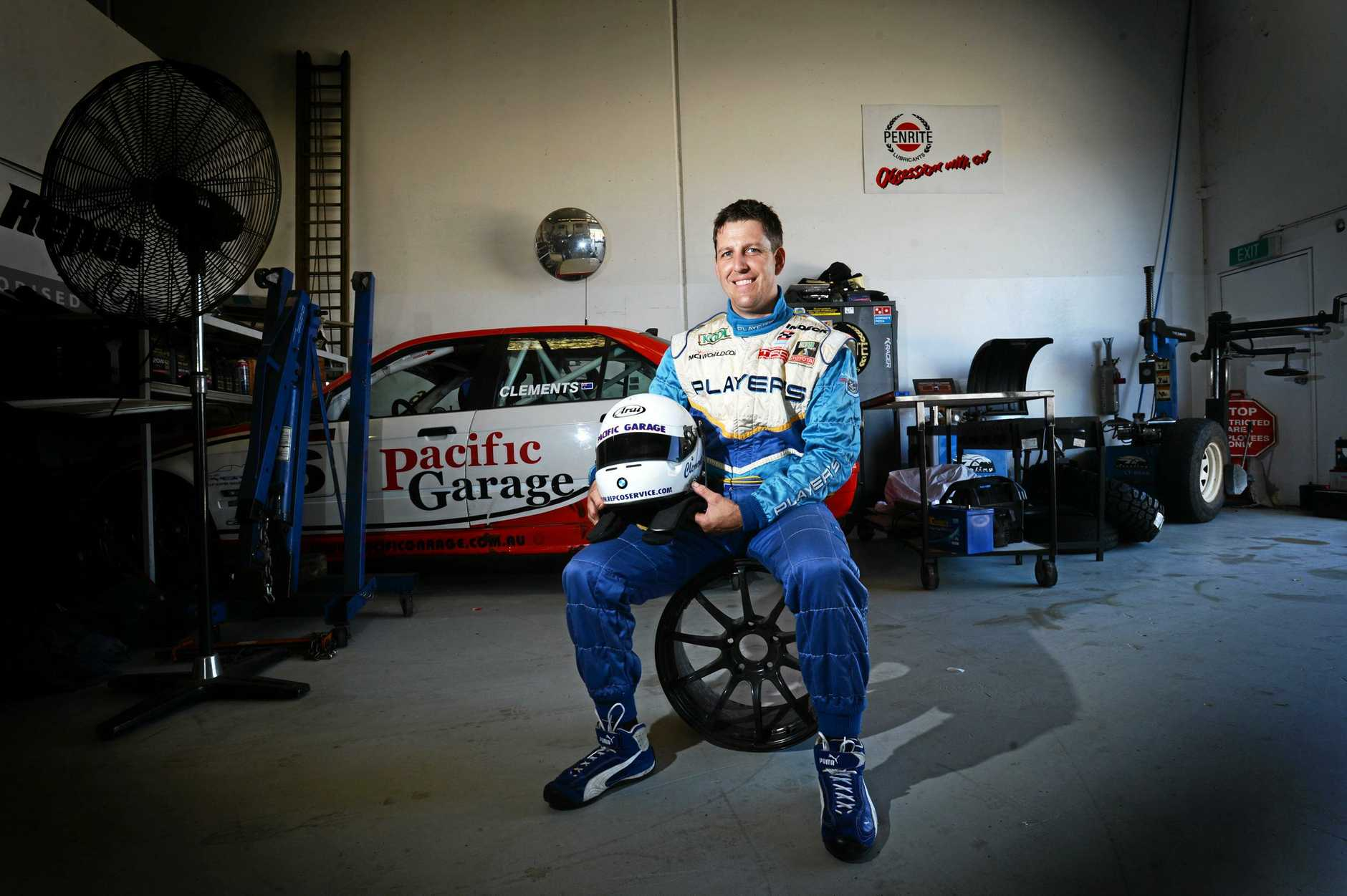 REVVED UP: Jason Clements will be performing demonstration laps in Al Unser Jr's famous 1986 Dominos Indy car.