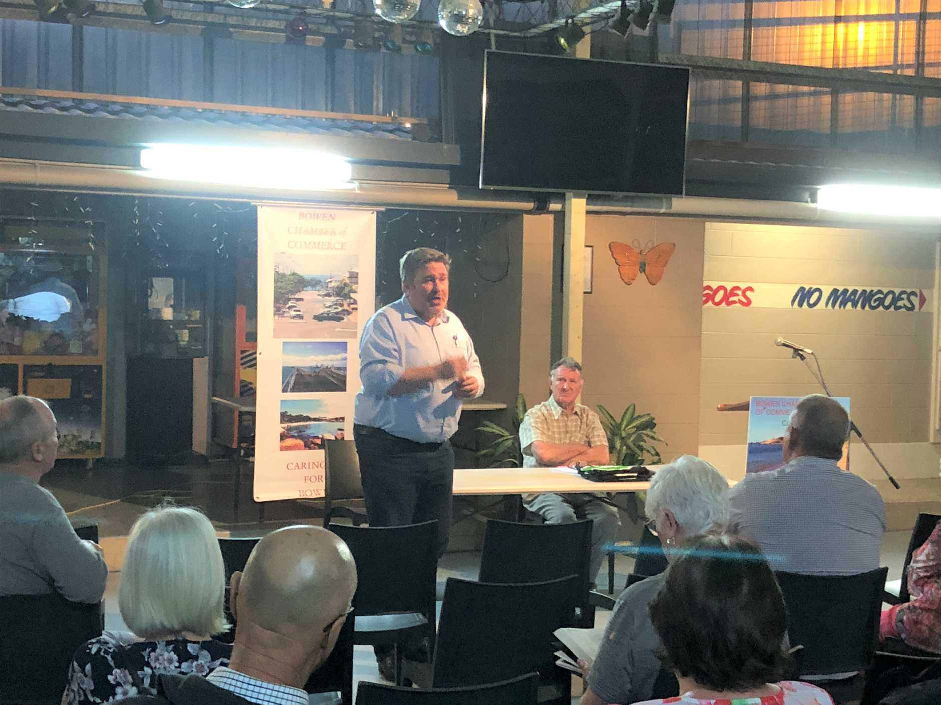 JOBS: Lucas Dow spoke to the Bowen Chamber of Commerce on September 25.