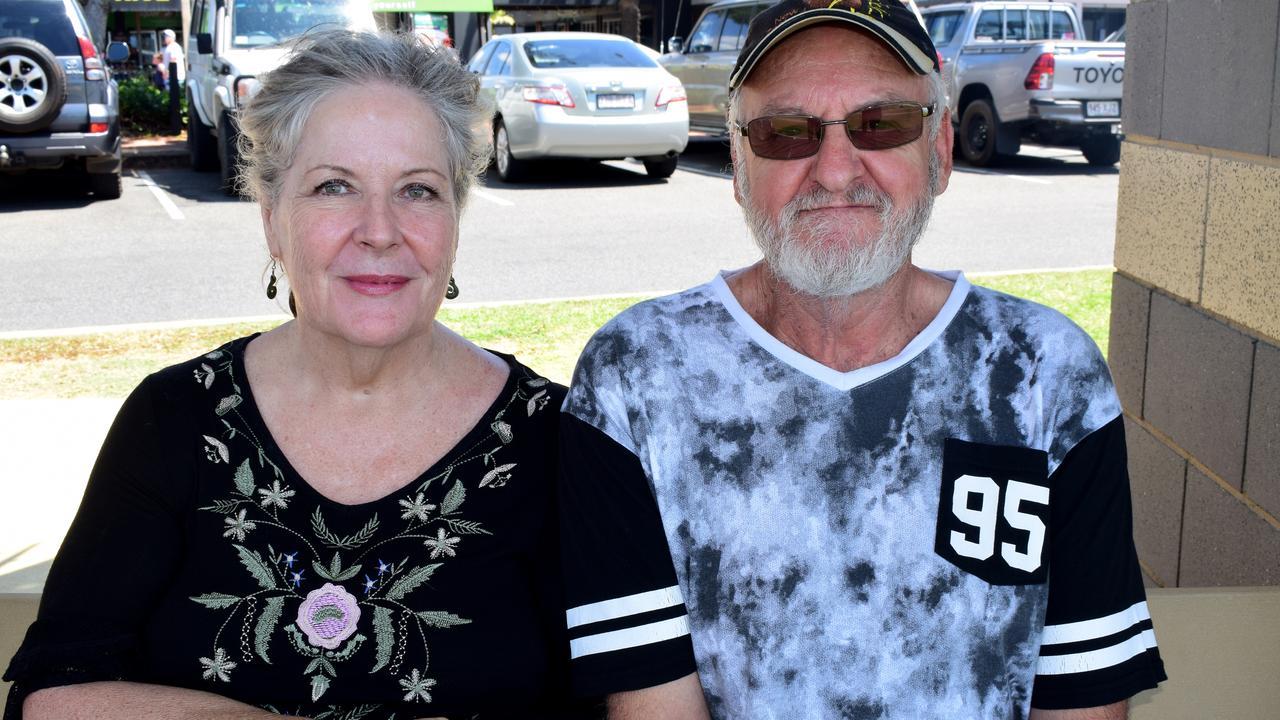 Julie Davies and Tony Sams at the Global Climate Strike in Yeppoon last week