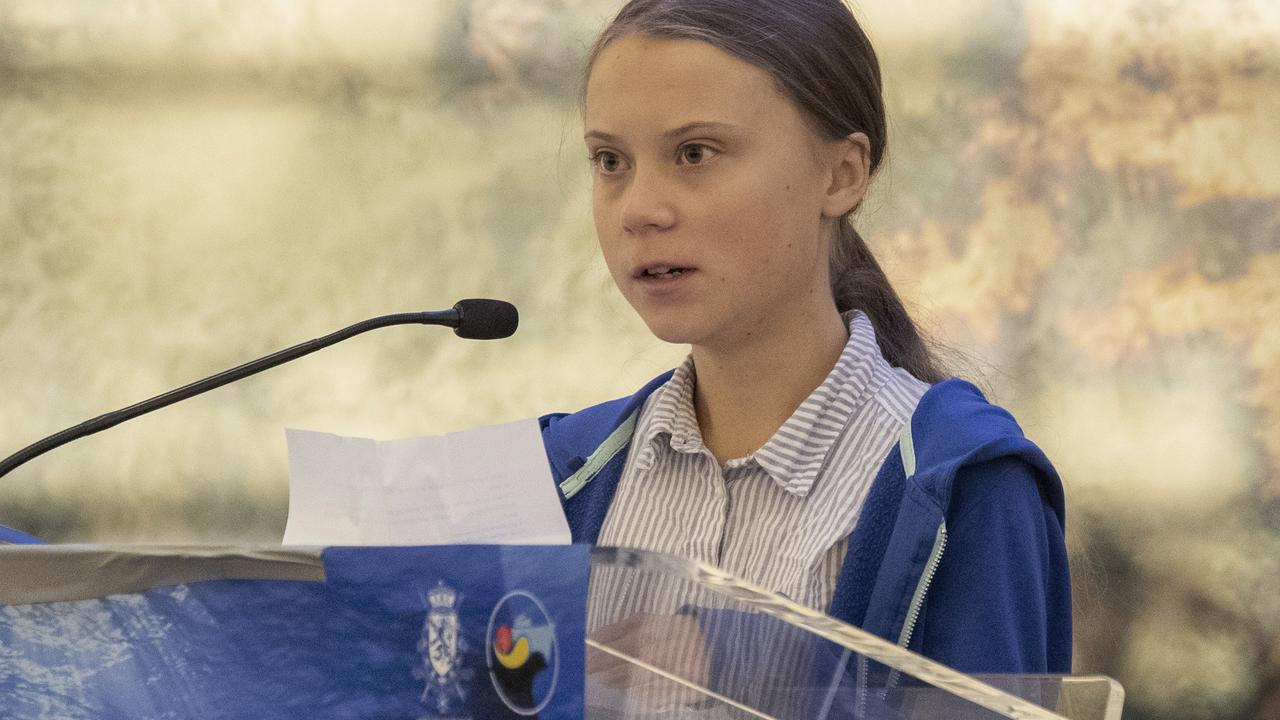 Mr Morrison appeared to make a direct reference to Swedish teenage climate change activist Greta Thunberg. Picture: AP Photo/Mary Altaffer