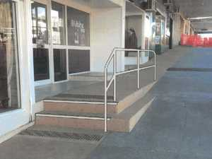 Handrails to be installed outside shop fronts in Mt Morgan