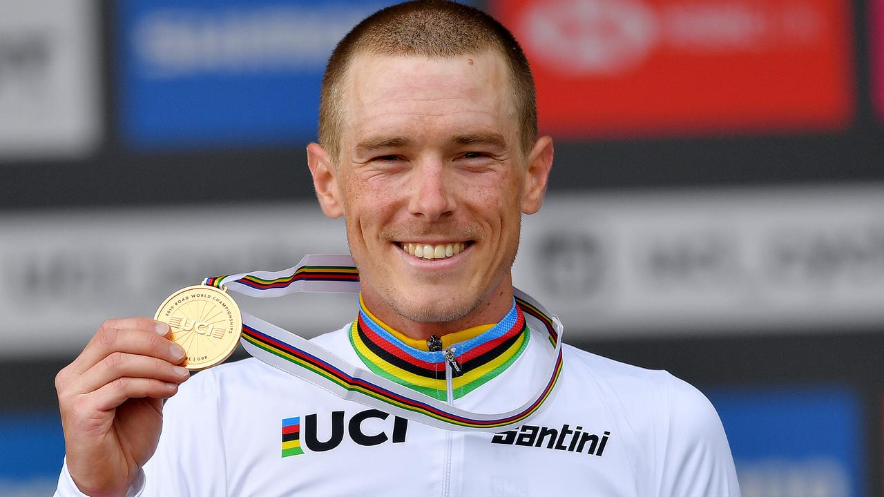 Rohan Dennis of Australia wins the individual time trial. Picture: Getty