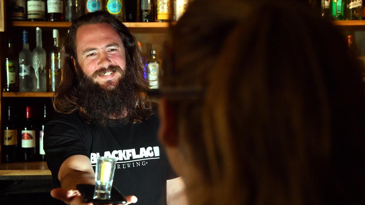 Taps Mooloolaba bartender John Coumessos. Photo: John McCutcheon