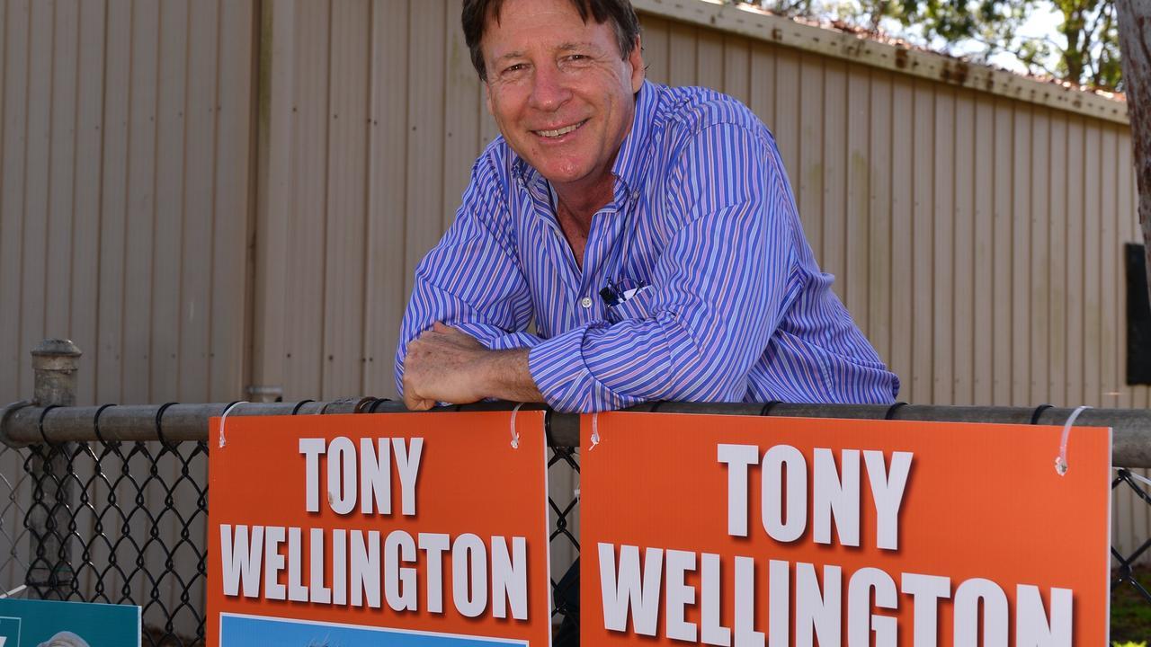 Tony Wellington on council election day.