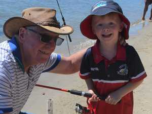 Hooked on wetting a line with dads