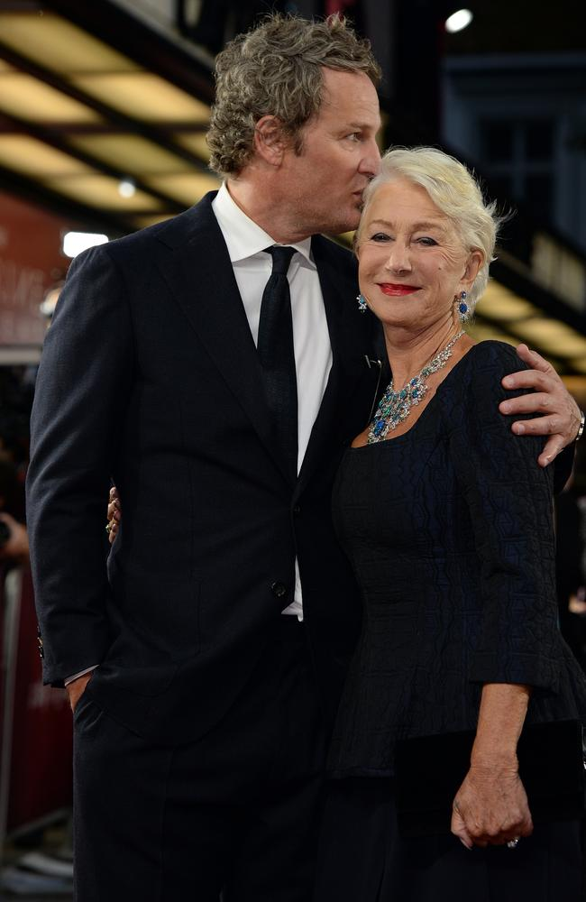 Jason Clarke and Dame Helen Mirren attend the Catherine The Great UK TV premiere. Picture: Eamonn M. McCormack/Getty Images