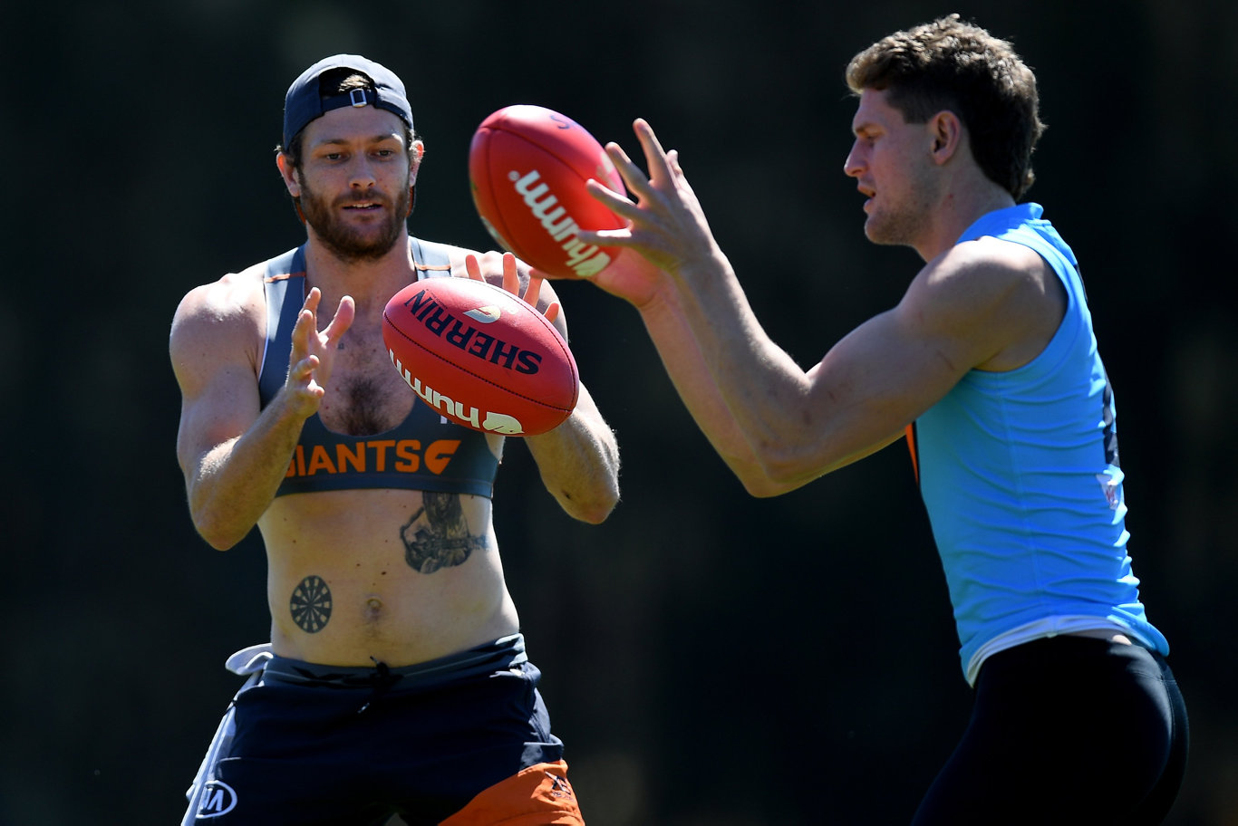 TRAINING: Sam Reid of the Giants. Picture AAP Image/Dan Himbrechts.