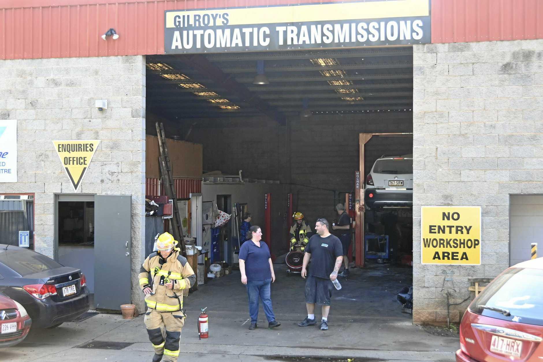 Workshop fire at Gilroy's Automotive, Mort Street. September 2019