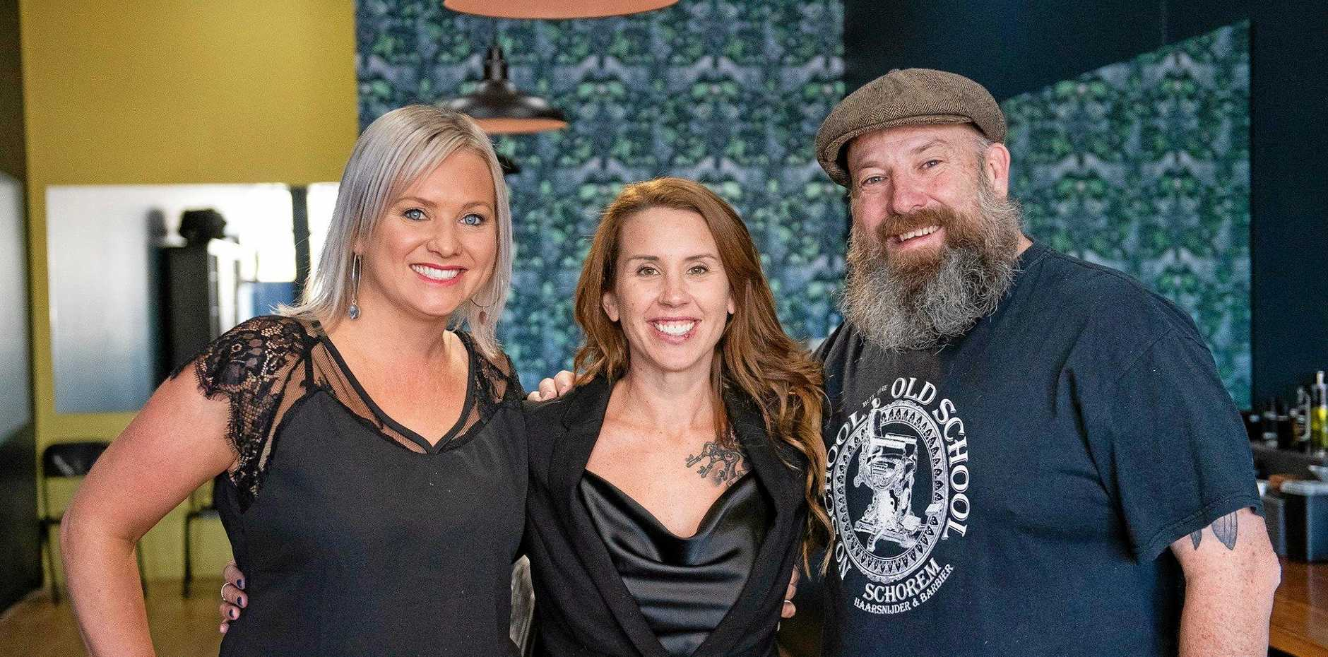 NOW OPEN: Grace Batten, Renee Houston and Damian Roche from Houston and Co Barber Shop.