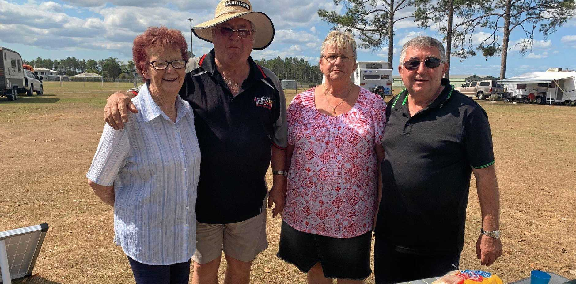 Marlene and Roy Littlehales, and Raelene and Burt Harry are travelling Australia together.