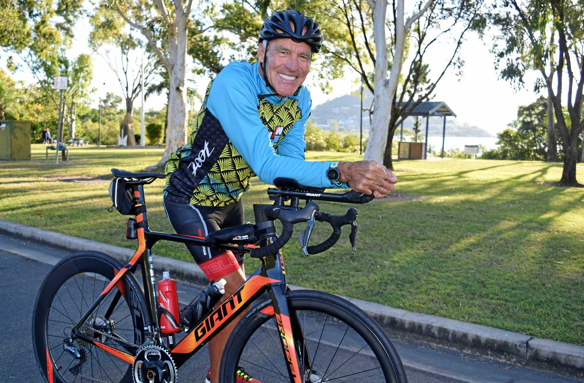 Airlie Beach's Michael Kimpton has just represented Australia in the 65-69-year-old group in the Ironman 70.3 World Championship in Nice, France.