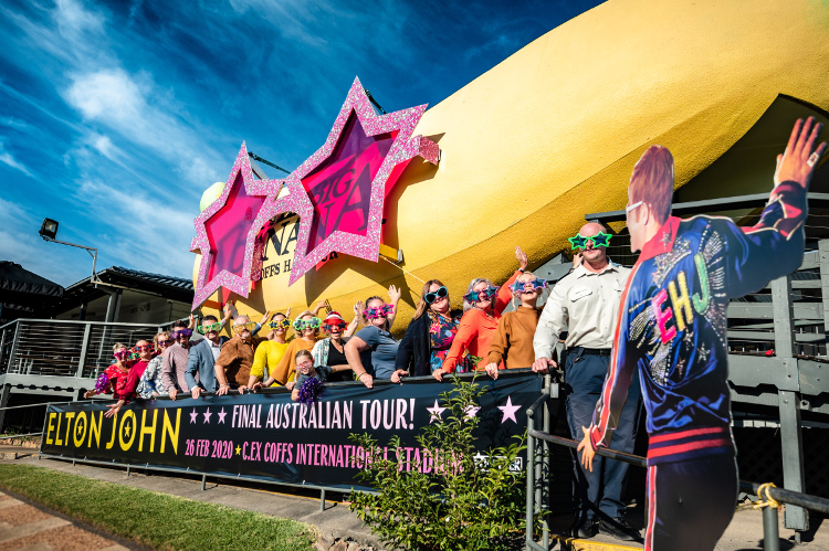Coffs Harbour celebrates Elton mania.