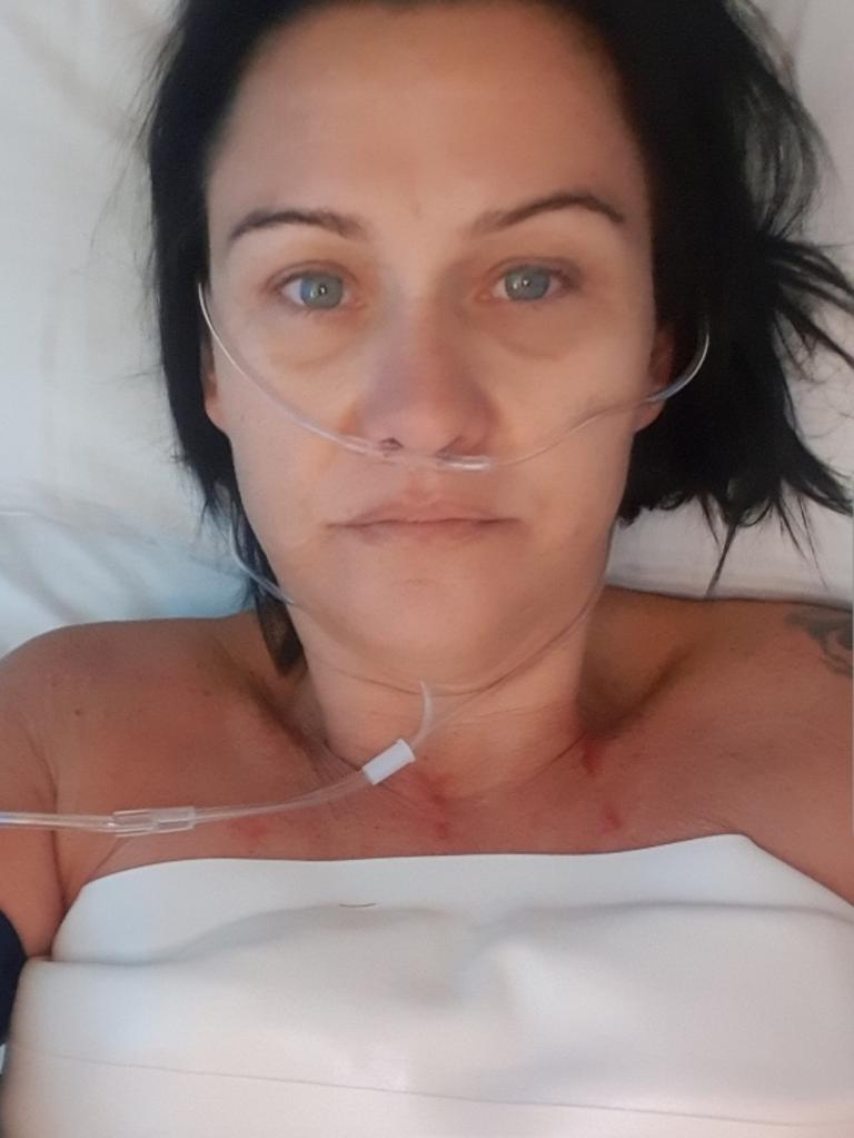 Kerry Adams in hospital