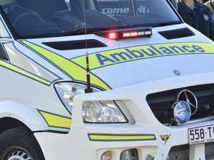 Traffic delayed, man hospitalised after truck crash