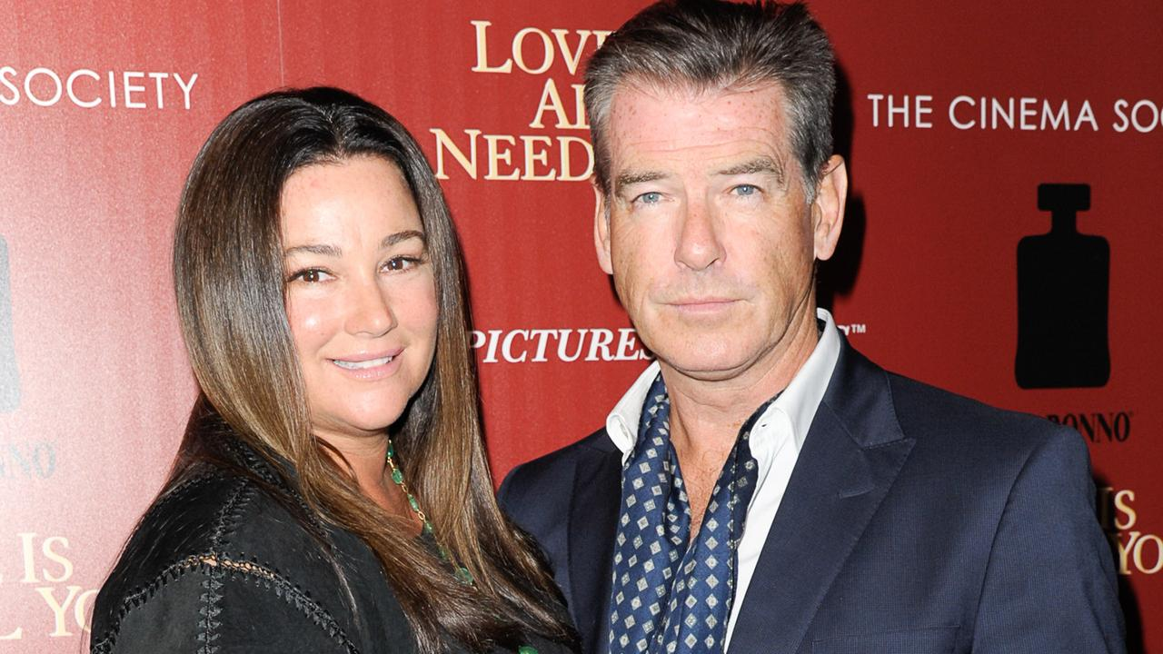 Keely Shaye Smith and husband Pierce Brosnan. Picture: Dave Kotinsky/Getty Images