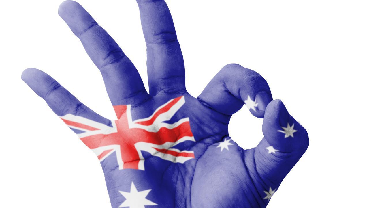 This Australian flag hand.