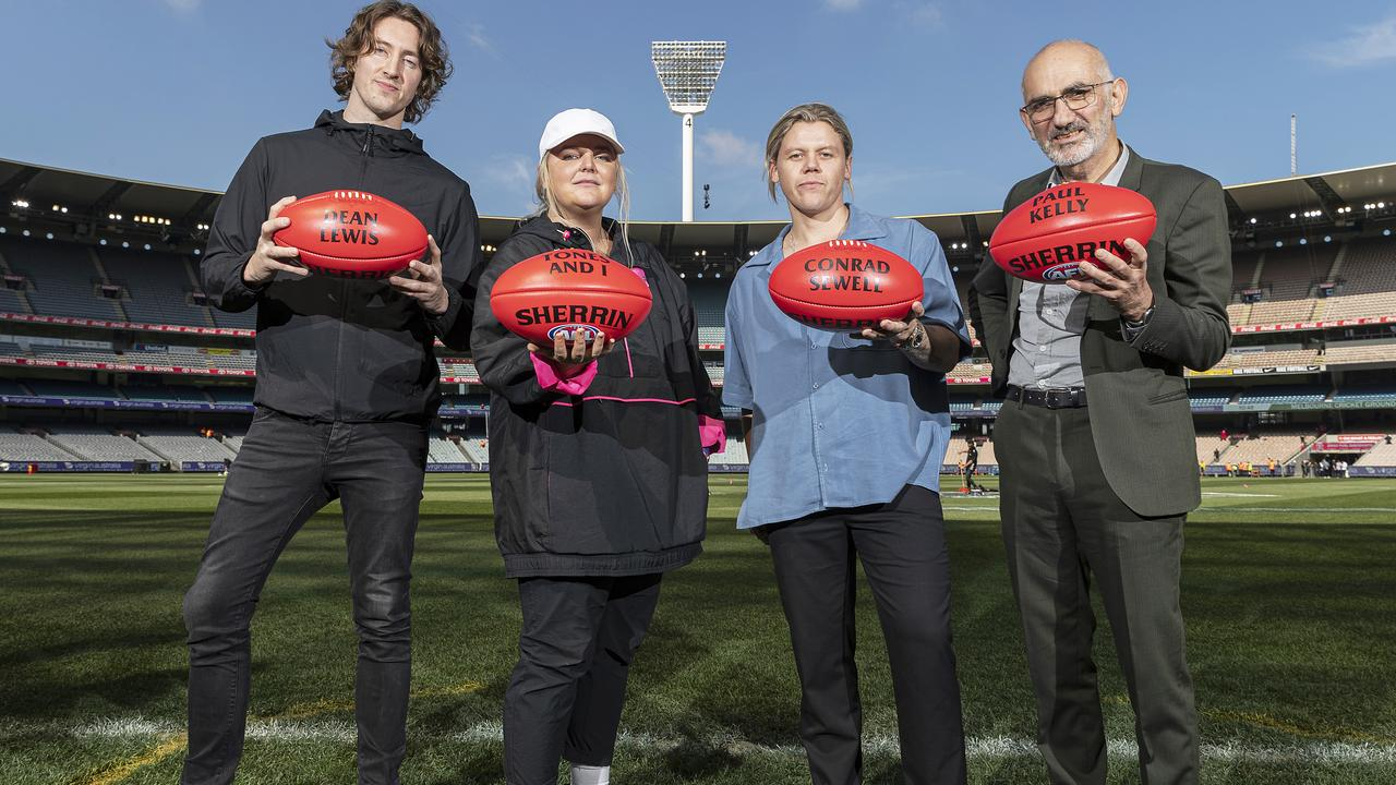 Dean Lewis, Tones and I, Conrad Sewell and Paul Kelly will perform at the AFL Grand Final. Picture: Daniel Pockett/AFL Photos.