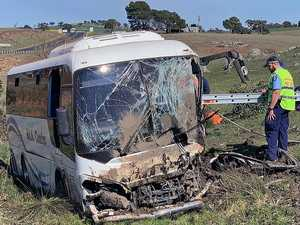 'Confronting scene': 27 injured in  church bus crash
