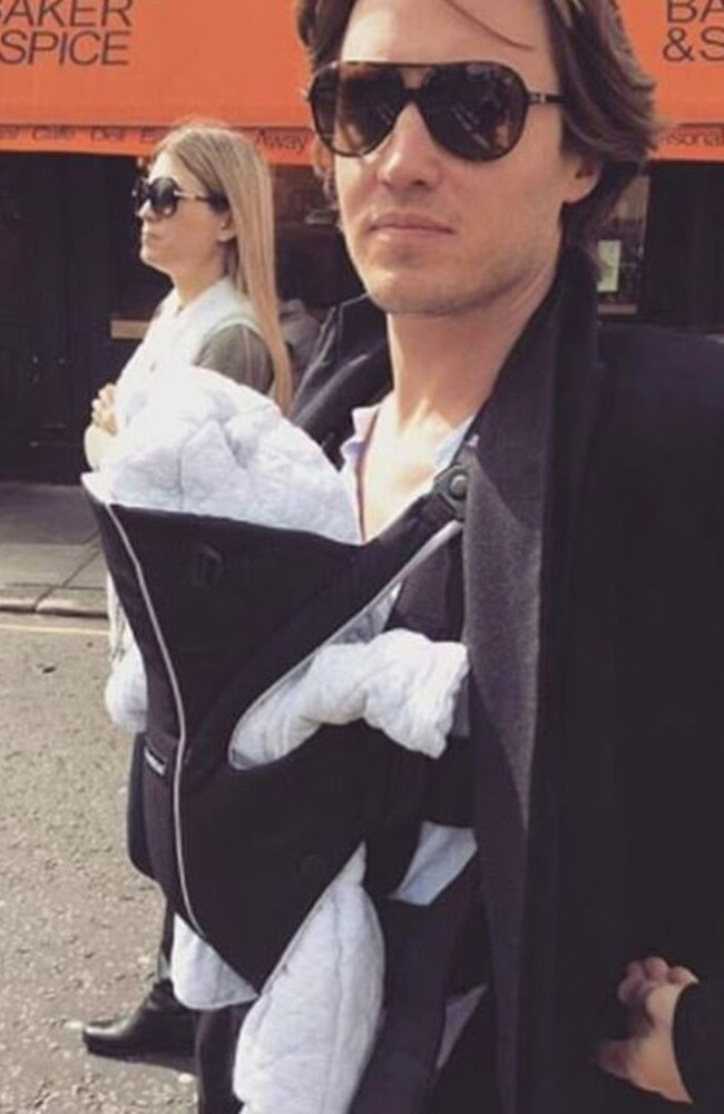 Edoardo Mapelli Mozzi, fiancee of Princess Beatrice, with son, Christopher. Picture: Facebook